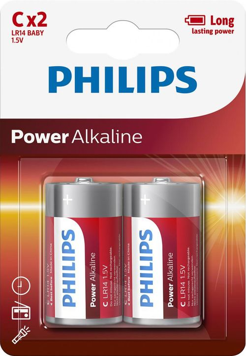 Philips Power Alkaline C 2-blister