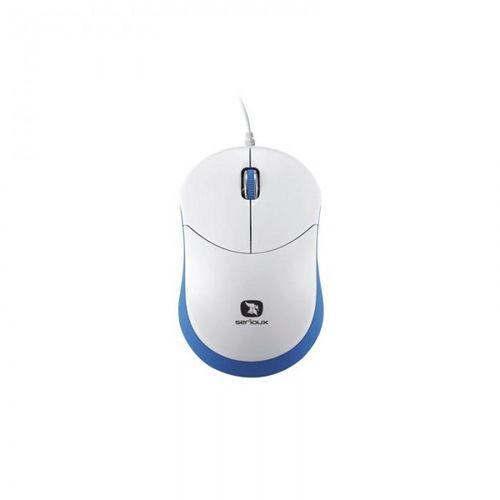 Mouse Serioux cu fir, optic, Rainbow 680, 1000dpi, albastru, ambidextru, blister, mini, USB