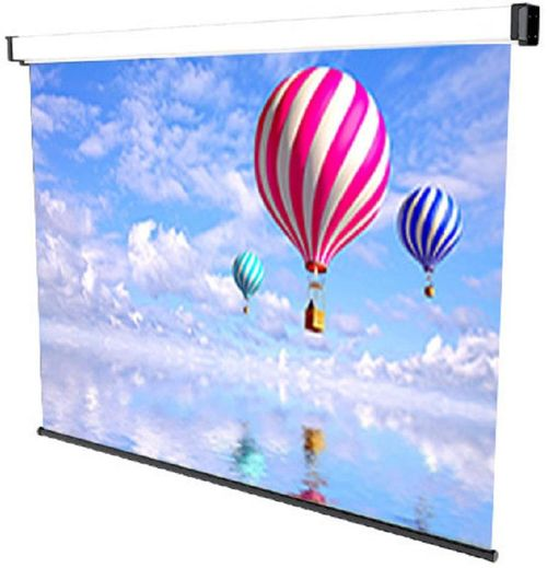 Ecran de proiectie montabil pe perete Sopar New Spring 180 x 190cm, Mecanism de blocare, 3180, SOP180NS