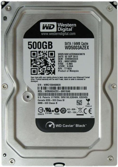 "HDD intern WD, 3.5"", 500GB, BLACK, SATA3, 7200rpm, 64MB"