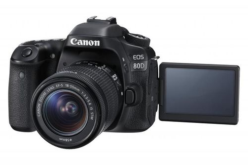 "Camera foto Canon EOS80D EF18-55S, 24MP, CMOS,3"" TFT fully articulated, DIGIC 6, 7 cadre / sec, ISO 100-16000,FullHD movies 30fps, compatibil"