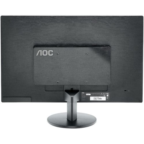 "Monitor 23.6"" AOC E2470SWHE, FHD 1920*1080, TN, 16:9, WLED, 5 ms, 250 cd/m2, 20M:1/ 1000:1, 170/160, HDMI, VGA, headphone out, VESA, Black"