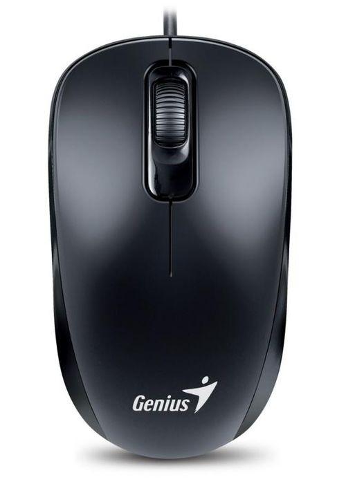 Mouse Genius cu fir, optic, DX110, 1200dpi, negru, plug and play, USB