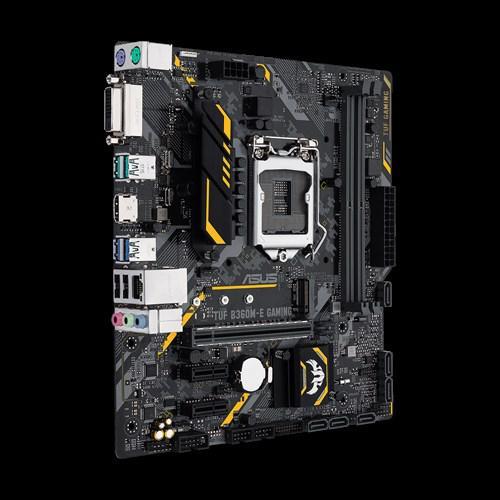 Placa de baza Asus Socket LGA1151, TUF B360M-E GAMING, 2*DDR4 2666/2400/2133MHz, 1x HDMI/DVI-D, 1x PCIe 3.0/2.0 x16, 2x PCIe3.0/2.0 x1 Slot, 6x SATA