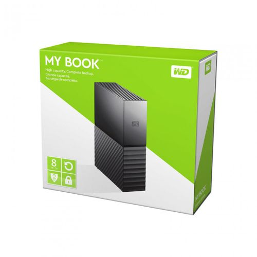 "HDD extern WD, 8Tb, My Book, 3.5"", USB 3.0, WD Backup software and Time , quick install guide, negru"