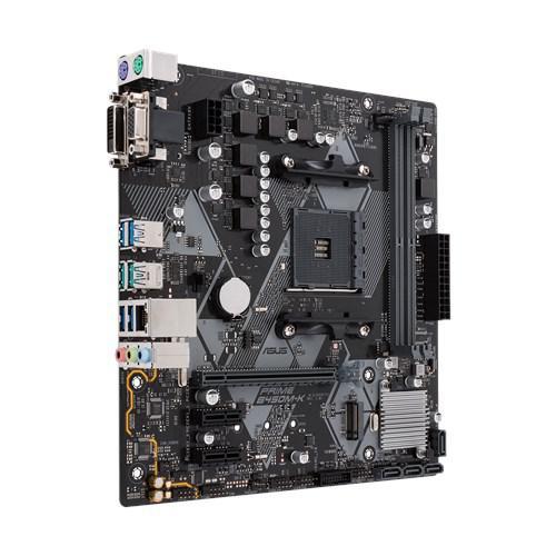 Placa de baza Asus AM4, PRIME B450M-K, 2*DIMM, Max. 32GB, DDR4 3200 (O.C.)/3000(O.C.)/2933(O.C.)/2800(O.C.)/2666/2400/2133 Un-buffered Memory, 1x