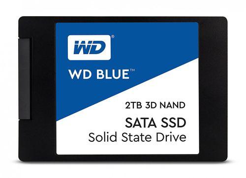 "SSD WD, 2TB, Blue, SATA3, 6 Gb/s, 3D NAND, 7mm, 2.5"", Solid State Drive"