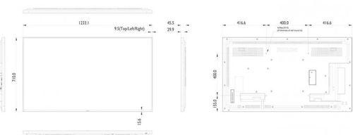 """Monitor LFD 54.64"""" PHILIPS 55BDL4050D, FHD 1920x1080, 60 Hz, 450 cd/m2, 12 ms ,16:9, 1100:1, 178/178, 2xHDMI, DVI-D, DVI-I, VGA, DP, RJ45, RS232C,"""