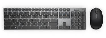 Dell Keyboard and mouse set KM717, wireless, 2.4 GHz, USB wirelessreceiver, US INT layout, Color: Black+Gray
