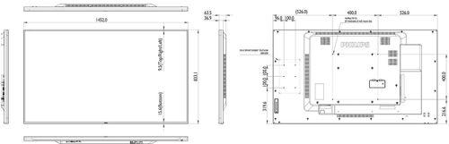 "Monitor 65"" PHILIPS 65BDL4050D LED, Wide 1920x1080, ANDROID, 16:9, 12 ms, 450cd/mp, 1100:1, 178/178, VGA (via DVI), USB, DVI-D, HDMI (x2),"