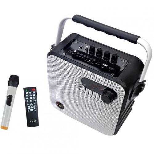 Boxa portabila AKAI ABTS-T5 cu Bluetooth si microfon wireless, OutputPower:30W, compatibila cu MP3, MP4, DVD, PC, Mobile, PC Tablet,