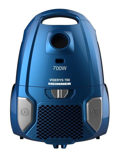 Aspirator cu sac Heinner HVC-MBL1400-V2, putere: 700W, putere de abrsorbtie: 170W, putree variabila, tija telescopica din metal, 1 perie de praf si