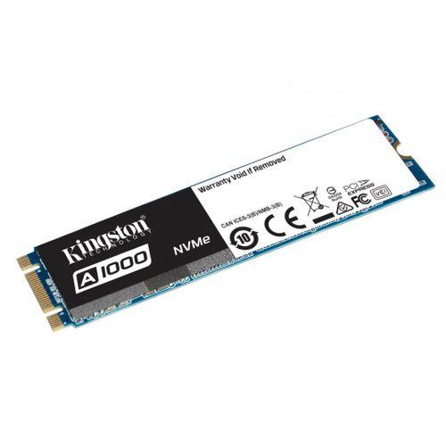SSD Kingston, 480GB, A1000, M.2 2280, R/W 1500/900 MB/s