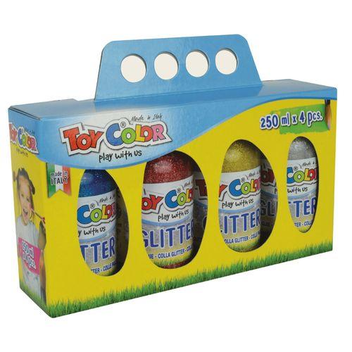 Lipici Toy Color Magic Glitter, 4 bucati/set