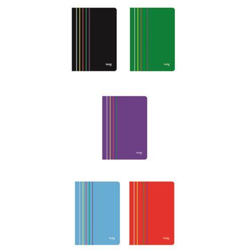 Caiet Notte Arc, A4, coperta PP, capsat, 40 file, dictando, 5 bucati/set