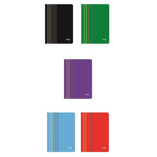 Caiet Notte Arc, coperta PP, A4, capsat, 40 file, matematica, 5 bucati/set