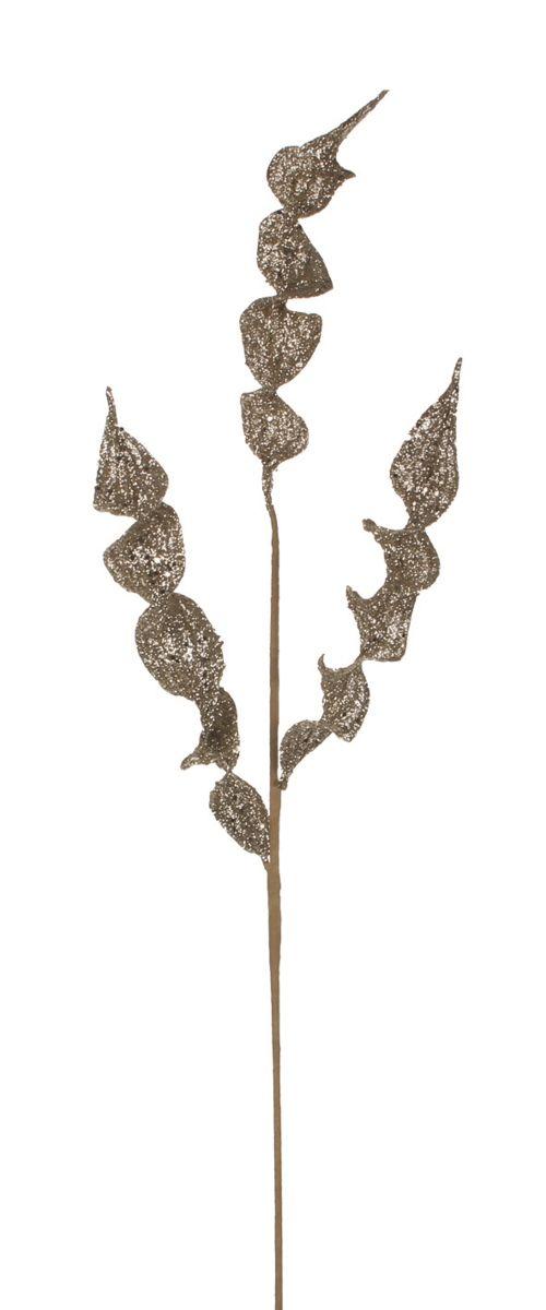 Decoratiune Edelman, frunze aurii, 94cm