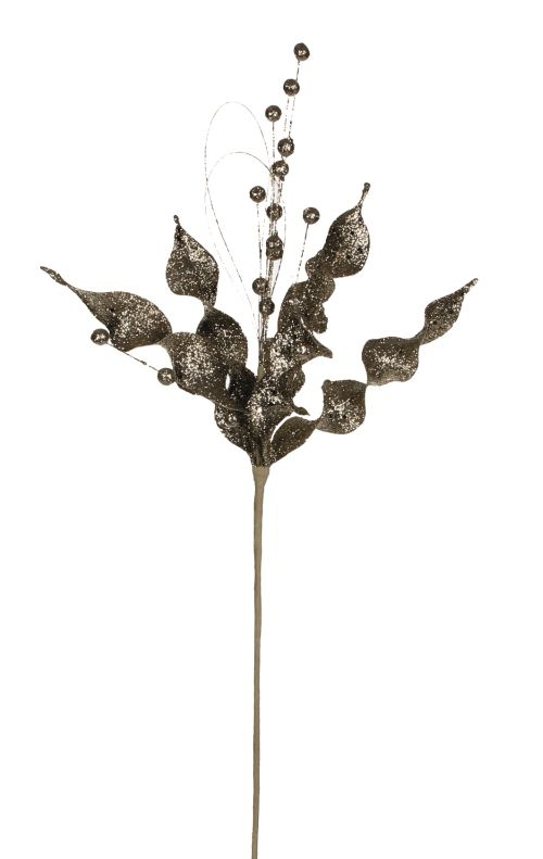 Decoratiune Edelman, frunze aurii, 60cm