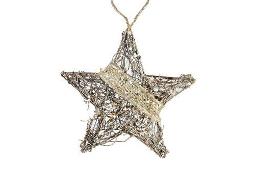 Ornament Edelman, stea medie, maro