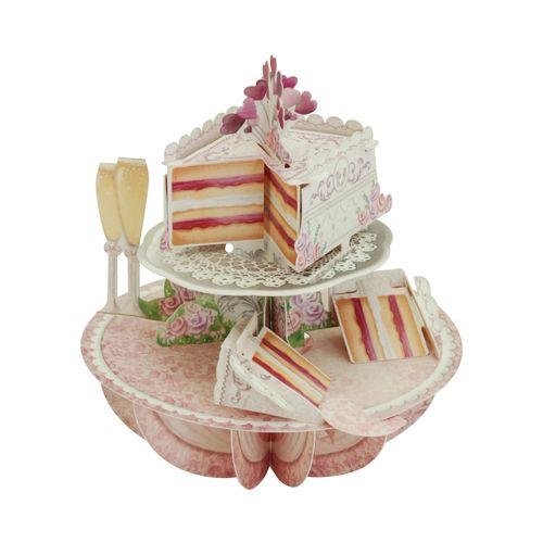 Felicitare Pirouettes - Tort de nunta