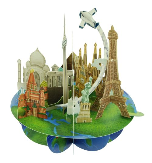 Felicitare Pirouettes - Travel the world