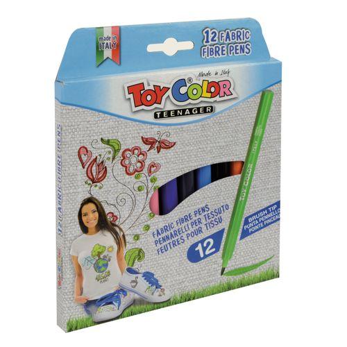 Carioci pentru textile Toy Color, 12 buc