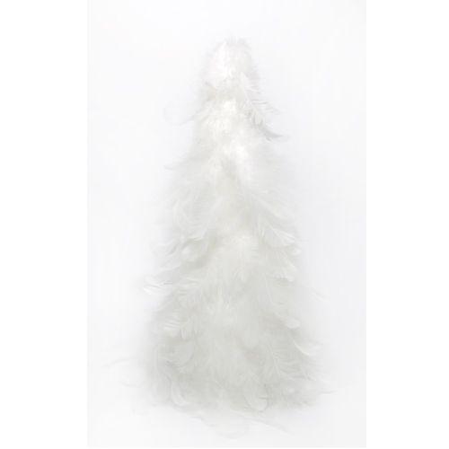 Decoratiune conica pene, alb