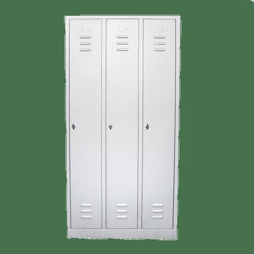 Vestiar metalic cu 3 usi, 870x500x1800 mm