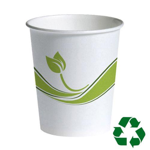 Pahar carton ECO Staples, 300 ml, 75 buc/set