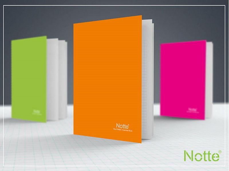 Caiet Notte Trend, A5, coperta PP, capsat, 40 file, matematica, 5 bucati/set