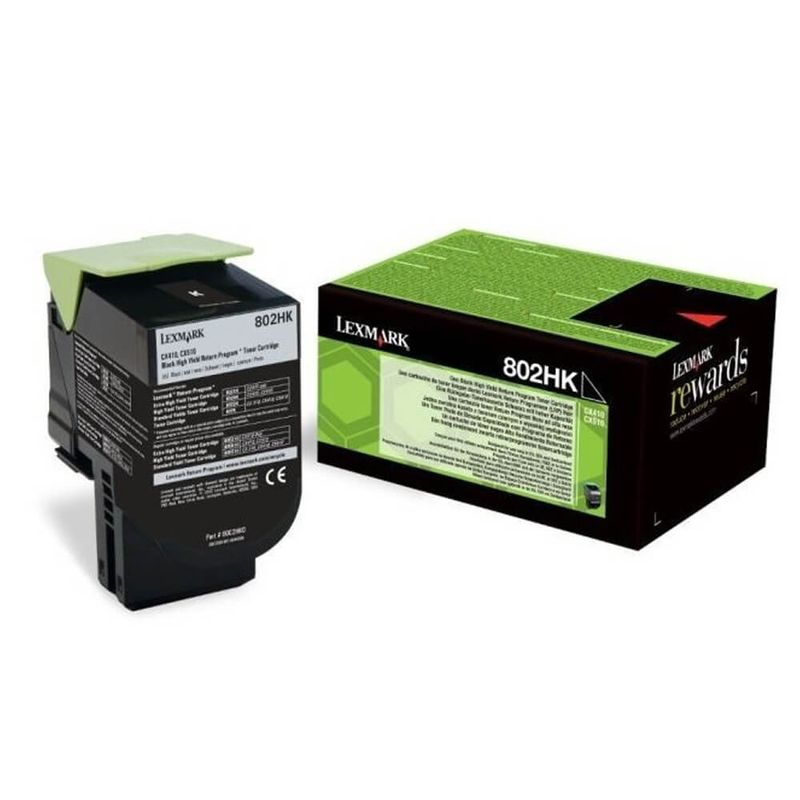 Toner Lexmark OEM 802hk, negru