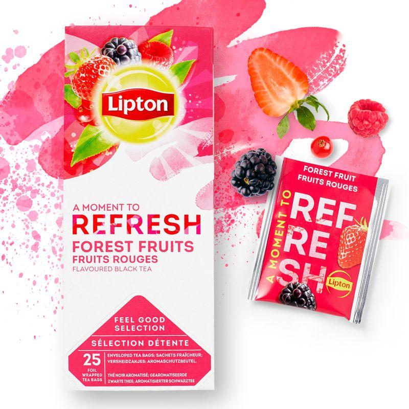 Ceai Lipton fructe de padure, 25 plicuri/cutie