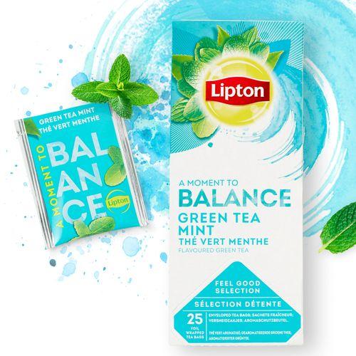 Ceai Lipton verde si menta, 25 plicuri/cutie