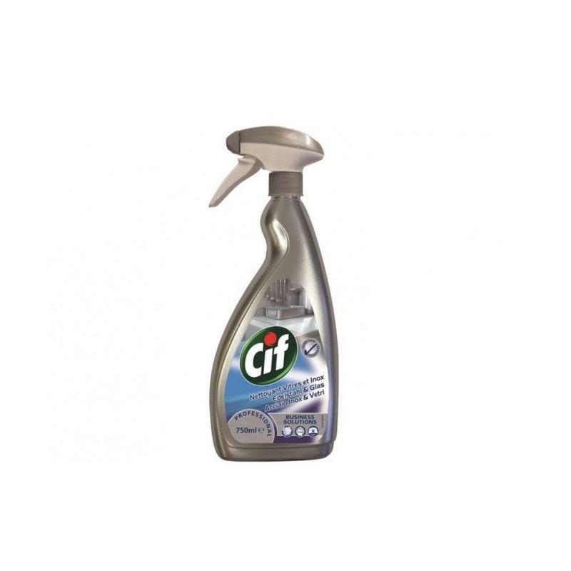 Detergent Cif pentru geamuri si otel inox, 750 ml