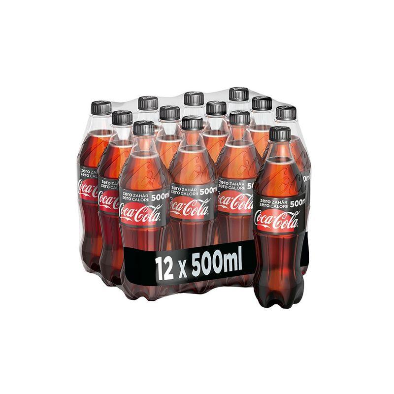 Coca Cola fara zahar 0.5l, 12 bucati/bax