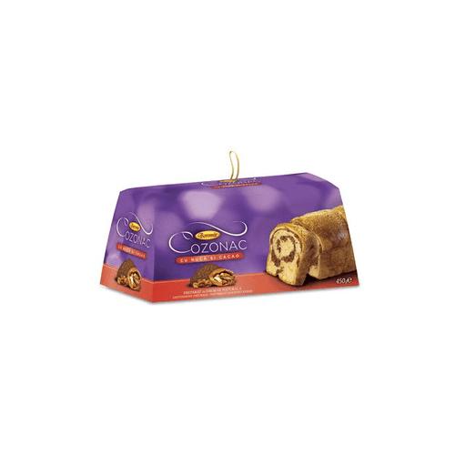 Cozonac Nuca Si Cacao 450gr Cutie Boromir