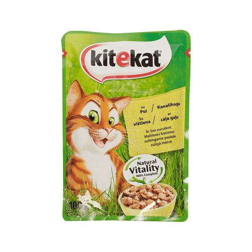 Hrana umeda pisici pui 100gr Kitekat