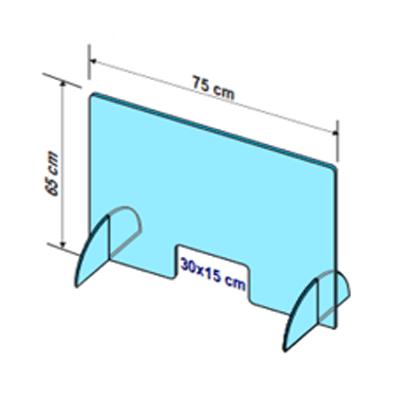 Ecran protectie Demont L75 x H65 cm deschidere L30 x H15 cm