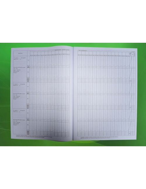 Catalog pentru invatamantul liceal (clasele IX-XII/XIII),36 elevi (rubricatia materiilor este goala pentru liceele de specialitate)