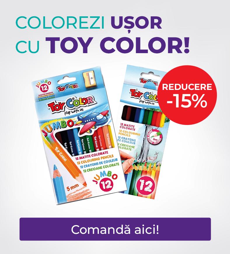 Colorezi usor cu Toy Color. Ai 15% reducere